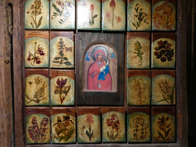 Mary of the Three Hands and some Ukranian folk art.