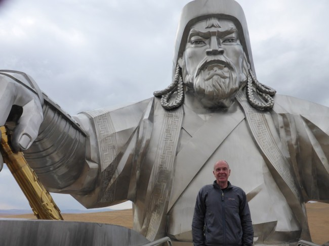 Me and my mate Chinggis.