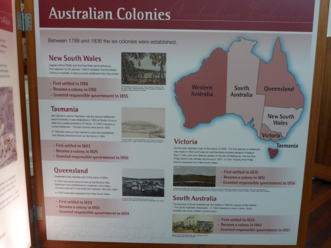 Part of the display at the Constitutional Centre.