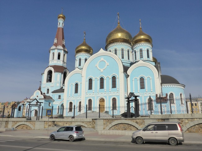 Church in Chita. Big, bold and brassy.