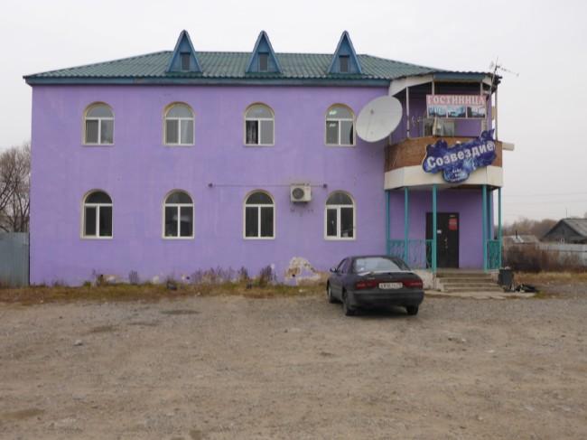 Irina's cafe/hotel.