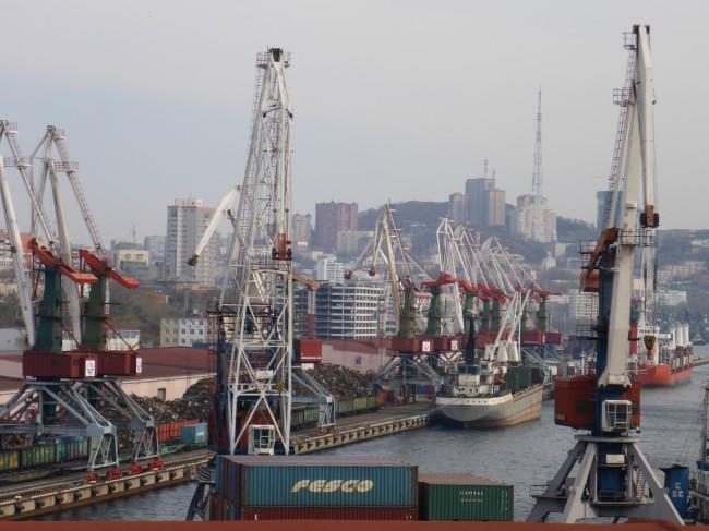 Busy dock area in Vlad.