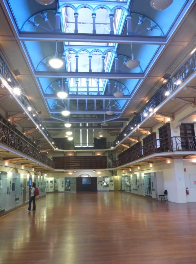 Hackett Hall, a very nice interior.