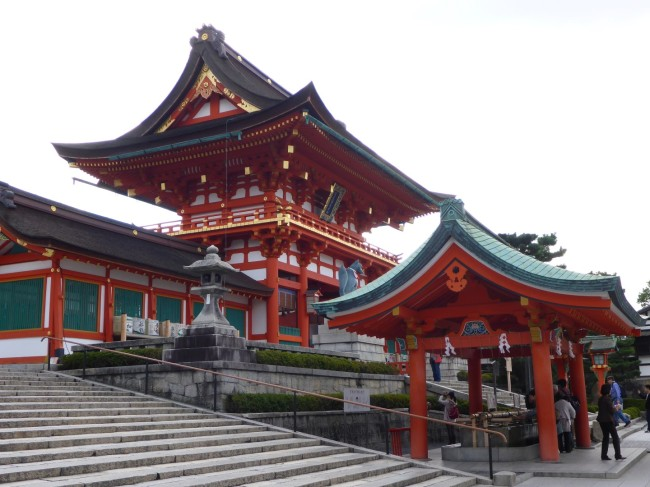 Part of the Fushimi-Inarii Temple complex.