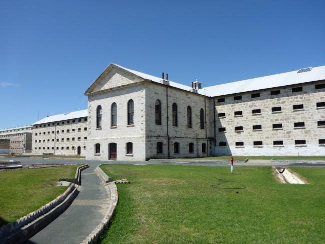 Main prison building, outside.