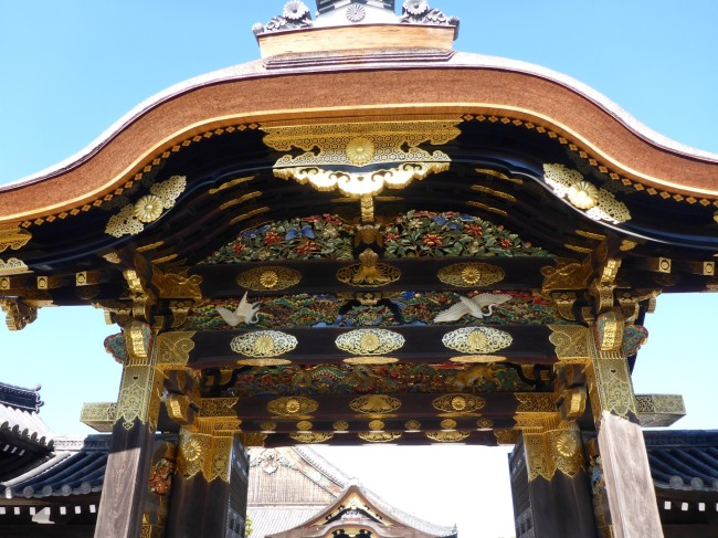 Superbly decorated gate into Nijo-Jo.