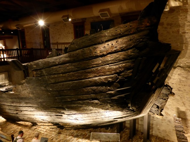 Part of the Batavia's stern, recovered from the sea bed.
