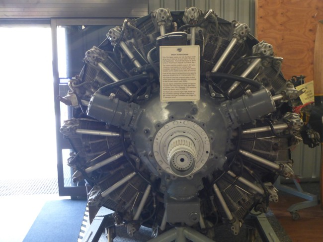 Wright R3350 engine, all 3,000HP of it. Used tp power the Boeing B29 Super Fortress.