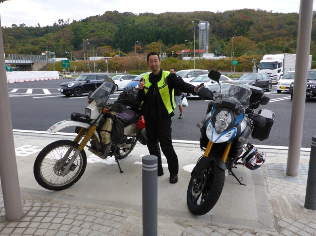 Osuma and his Suzuki.