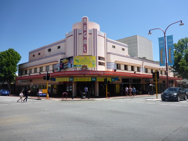 Perth has lots of nice buildings like this art deco former cinema. I love 'em!