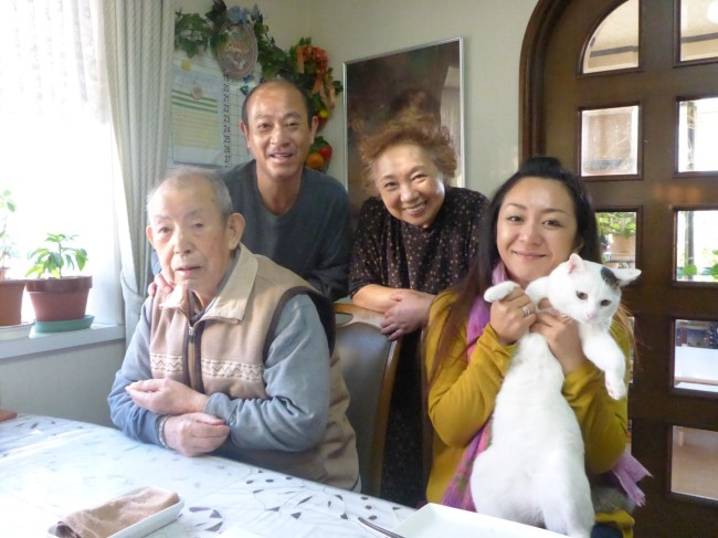 Hiromi and family.