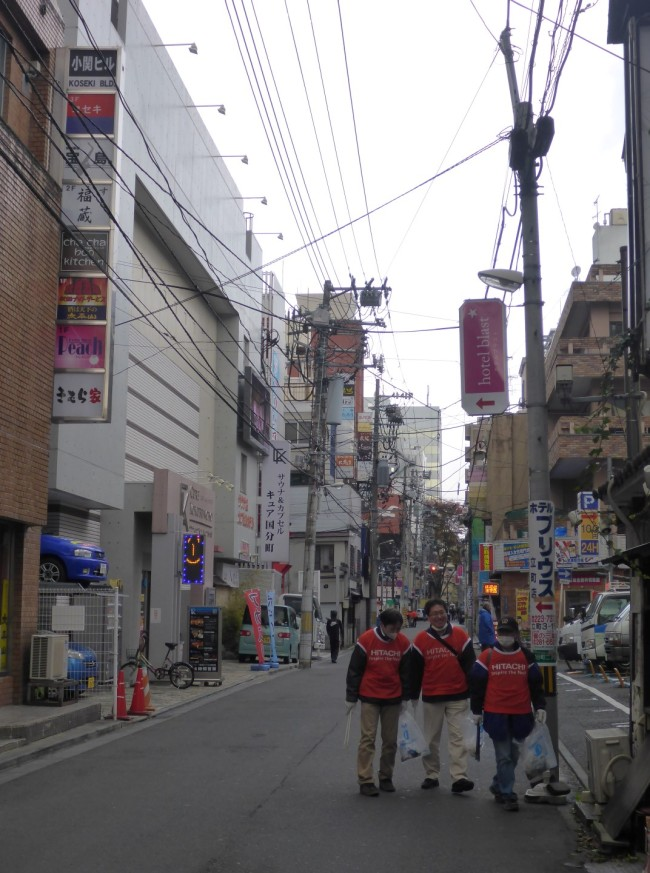 Narrow, busy streets. But kept clean by patrols fo sweepers.