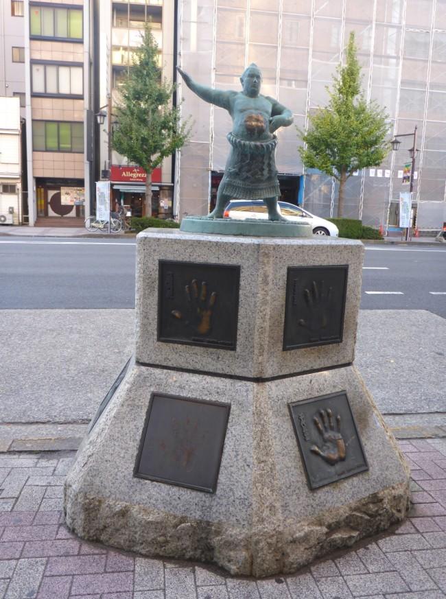 Sumo street statue.