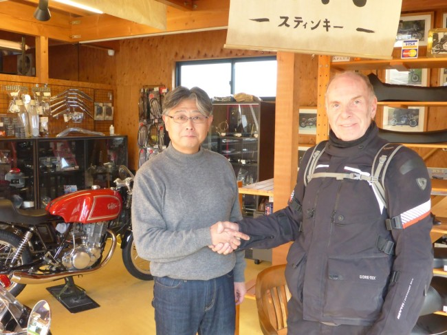 The owner, Yasubari Araki, seems pleased that I dropped by.