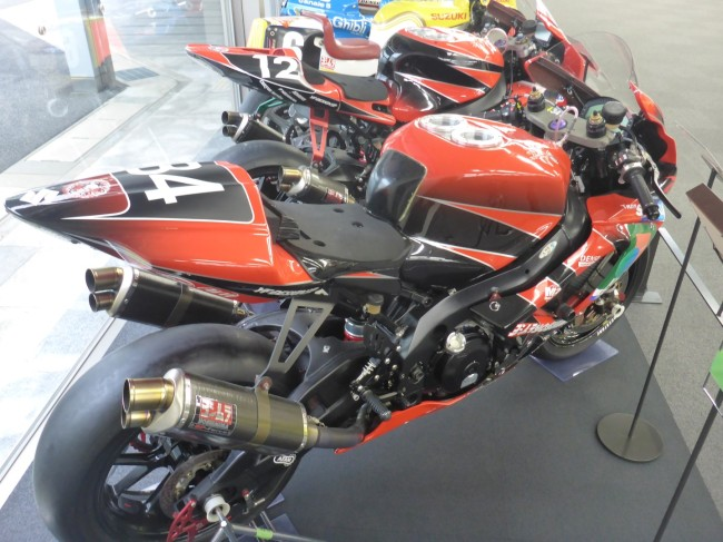 A fine collection of racing bikes.