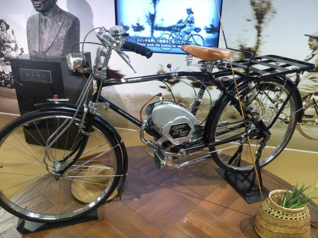 Bicycle with auxiliary engine.