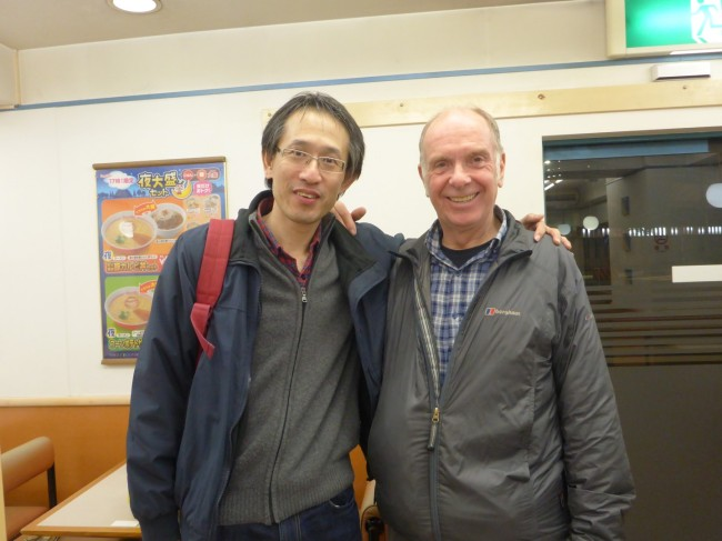 Tsuyochi and me.