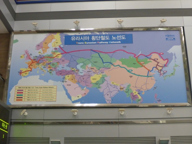 The hoped for trans Asia railway.
