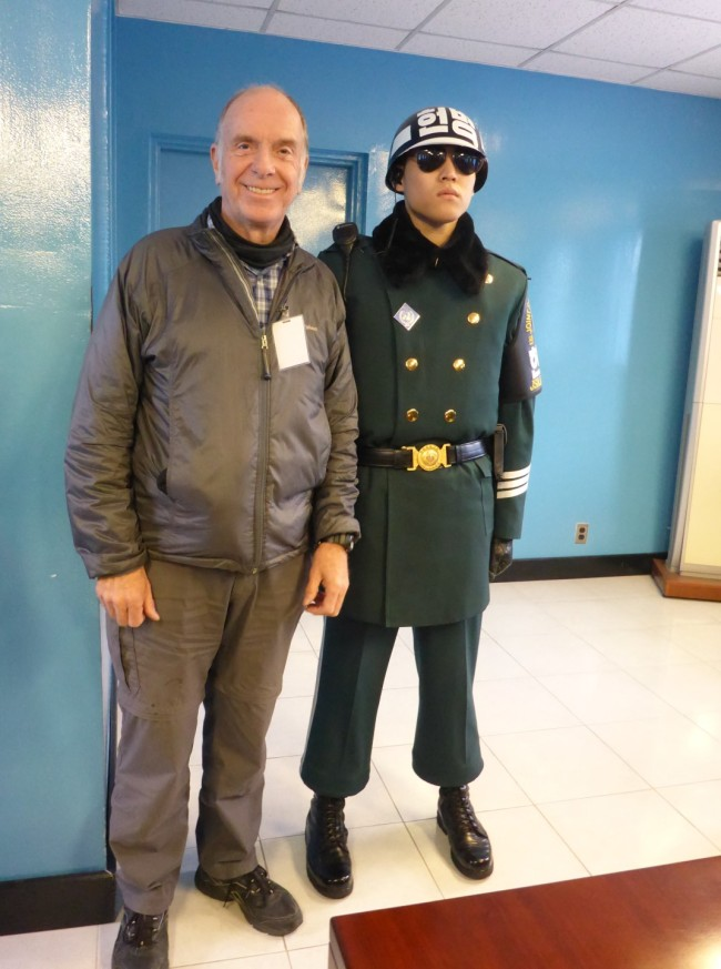 I am officially in North Korea at this point. The guard doesn't seem impressed.