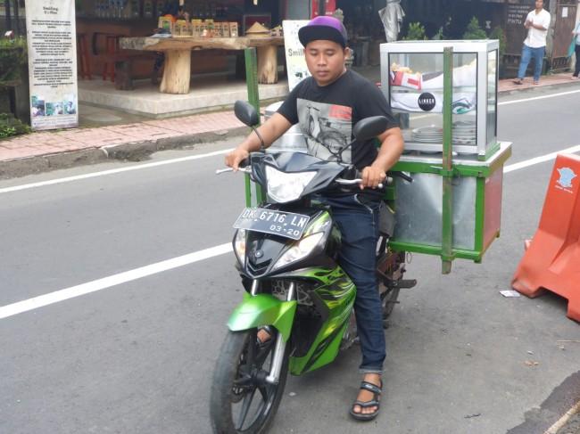 Mobile food stall.