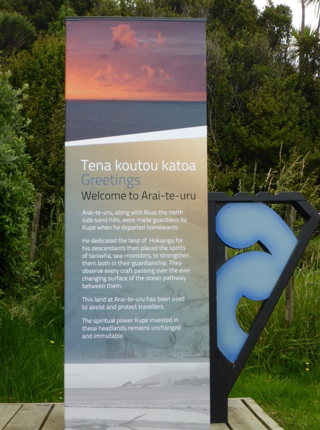 Some information on local Maori beliefs.