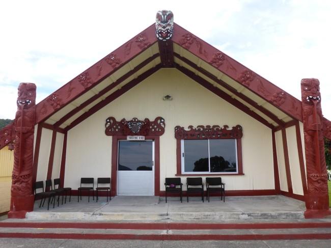 Wharenui, a Maori communal meeting house.