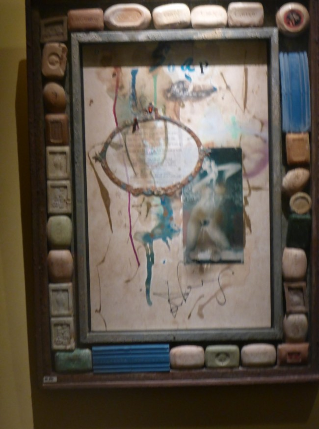 One of his weirder pictures. The frame is very much part of the artwork.