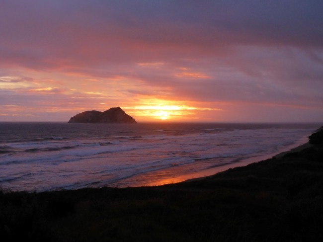 The new year dawns, out at East Cape lighthouse.