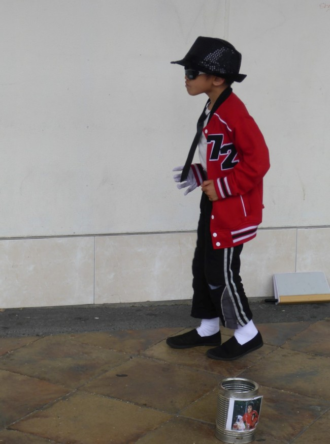 A young street entertainer treats us to his Michael Jackson routine in Gisbourne.