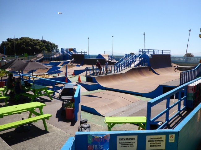 Seaside skate park. Bikes and boards too.