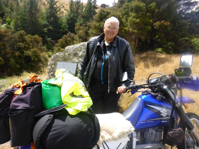 Rick and his DR650, a common bike in NZ and just right when you want to head for the hills.