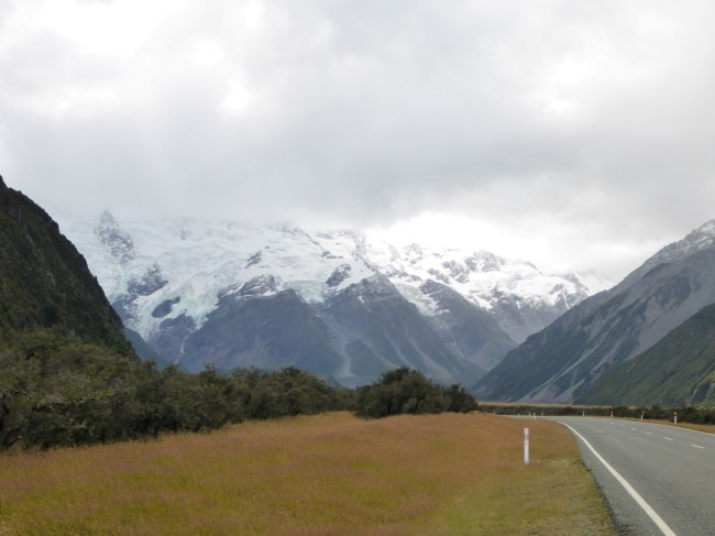 Too cloudy for Mount Cook to show up, but still a magnificent vista.