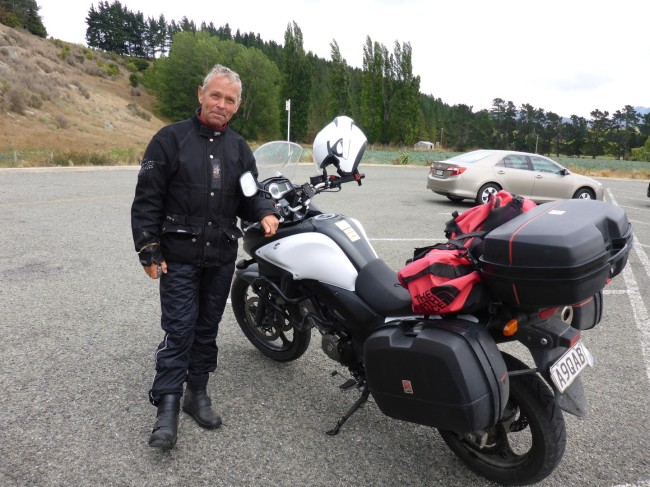 Another travelling biker, Peter from Denmark.