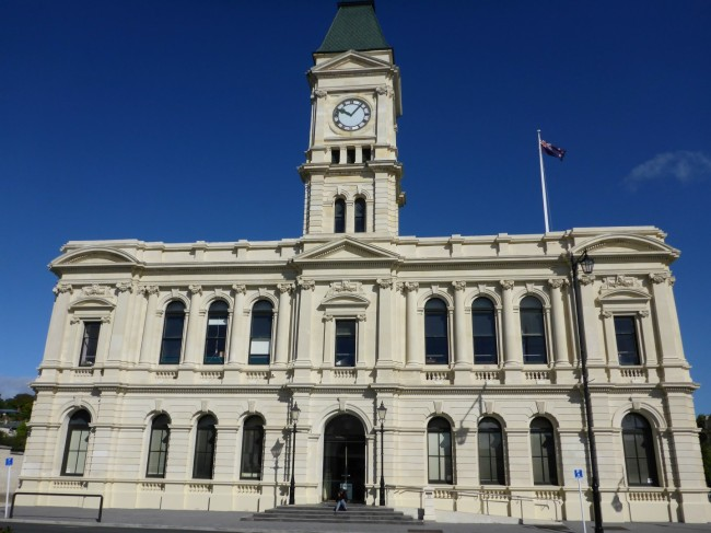 Oamaru town hall. Monument to excessive municipal ambition.