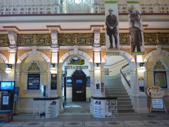 The beautifully restored Dunedin station concourse.