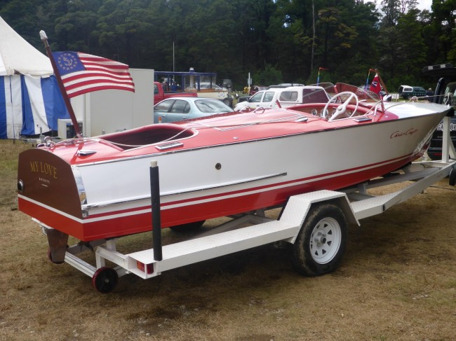 A very beautifully restored Chris Craft.