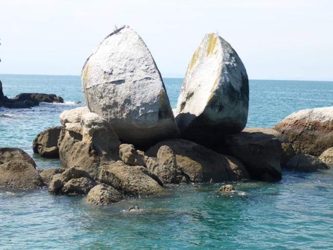 Split rock.