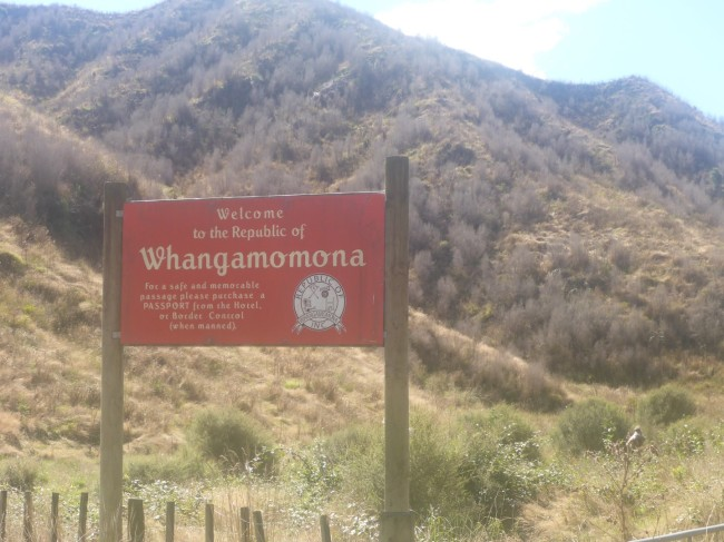 Entering the republic of Whangamomona.