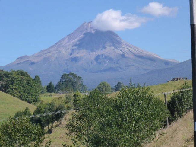 Mount Taranaki. Ready to blow?
