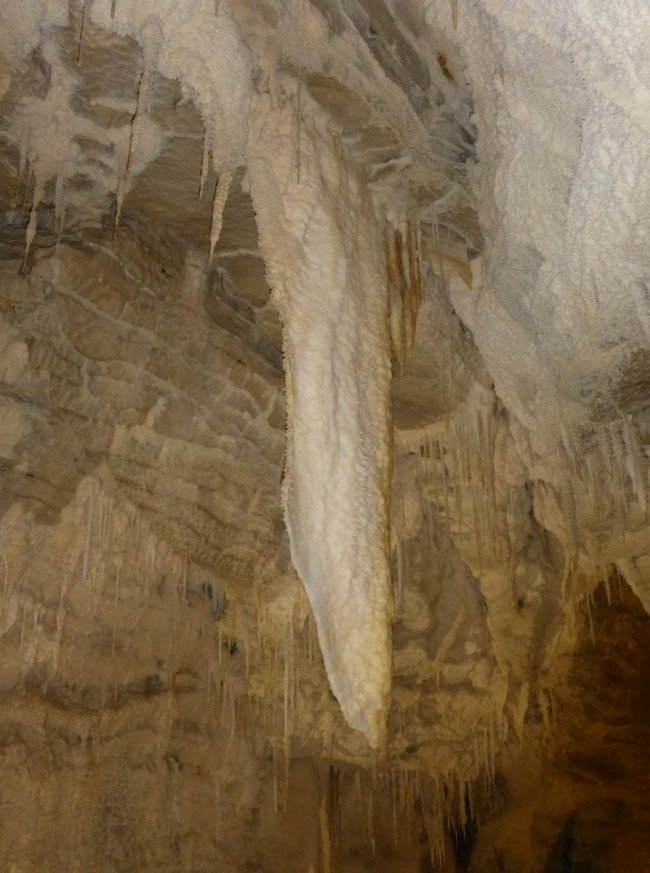 Curtain type stalactite. About 100,000 years worth of drips.