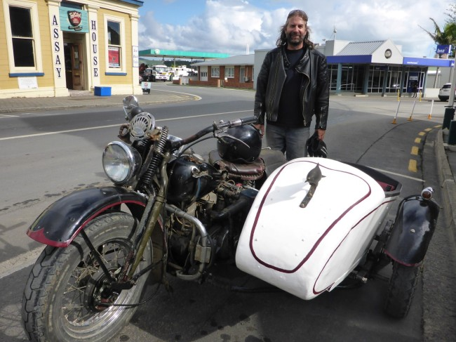 Alice the Garbologist, with his 1942 WA Flathead.