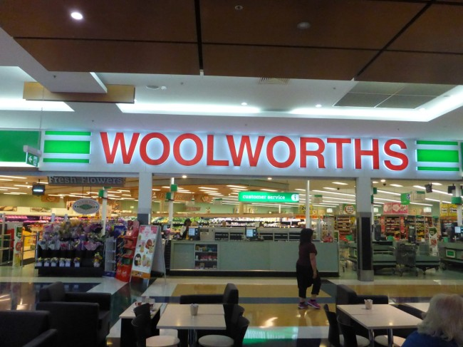 I was very surprised to see this name, but it's Australia's biggest supermarket chain.
