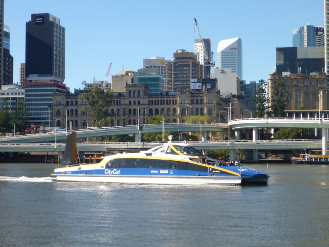 One of the City Cat taxi boats.