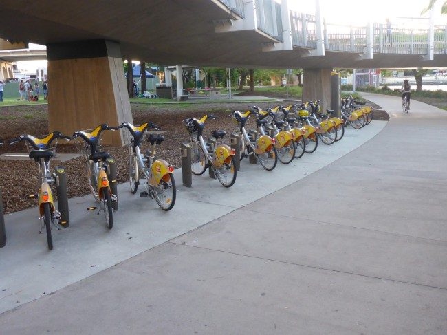 Brisbane's Boris Bikes, in Lib Dem rather than Tory colours.