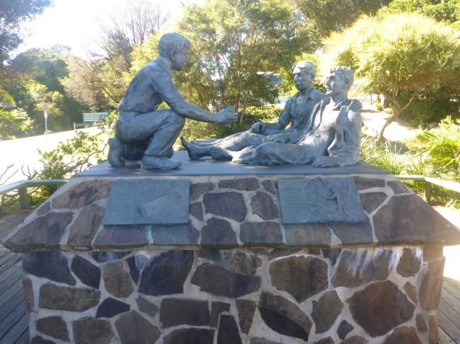 Statue to Bernard O'Reilly.