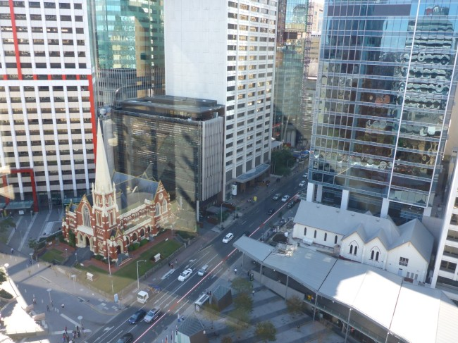 Methodist church from the top of Brisbane City Hall.