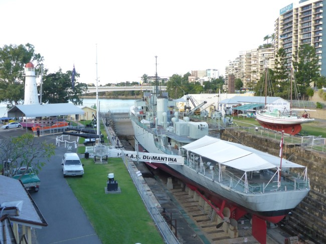 Brisbane's open air maritime museum.