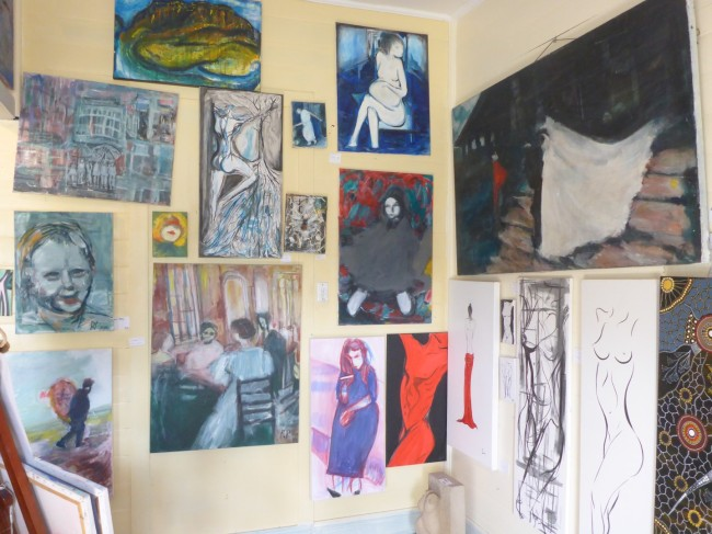 Inside a Nimbin art gallery.
