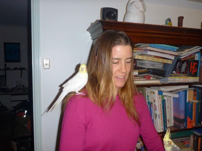 Melissa and birds.