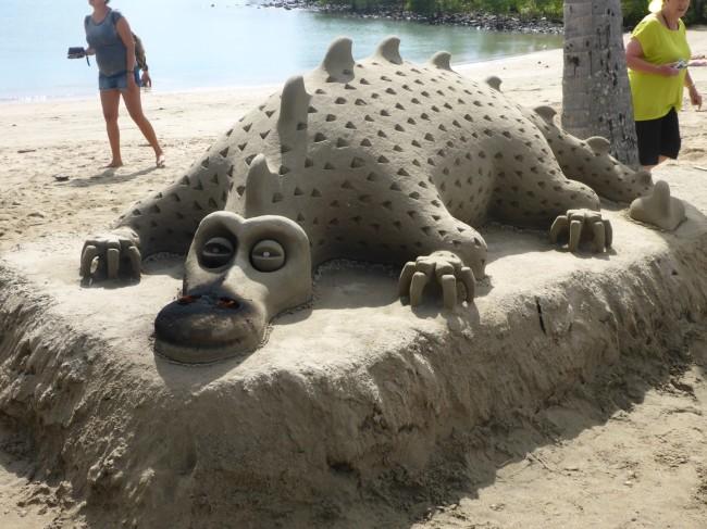 Impressive sand dragon.